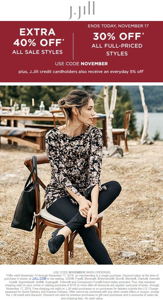 J.Jill coupons & promo code for [October 2020]