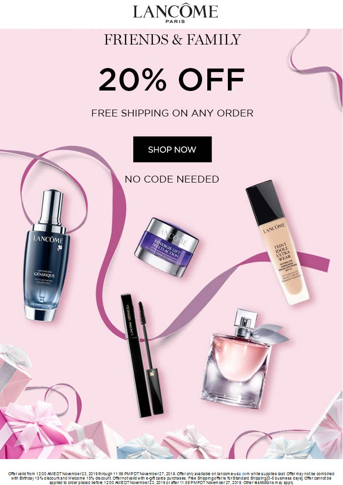 Lancome coupons & promo code for [July 2020]