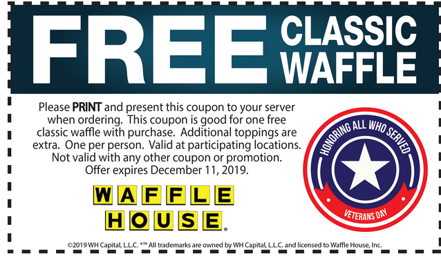 Waffle House coupons & promo code for [August 2020]