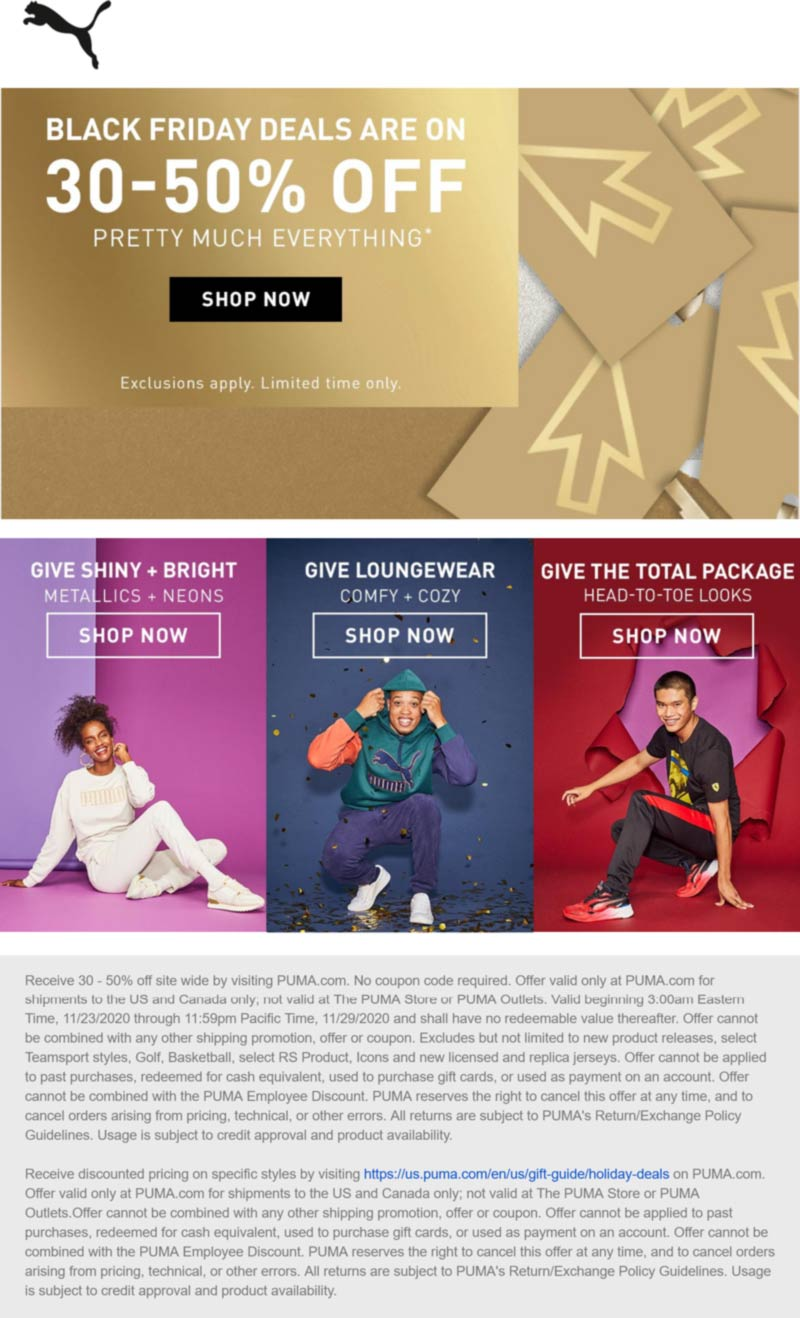 Puma coupons & promo code for [January 2021]