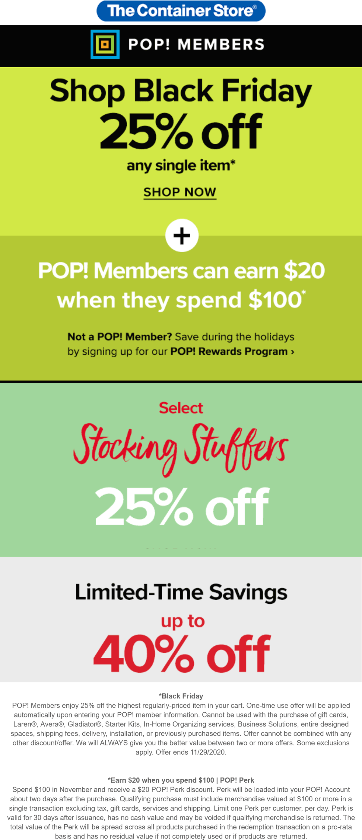 The Container Store stores Coupon  Store rewards members get 25% off a single item at The Container Store #thecontainerstore