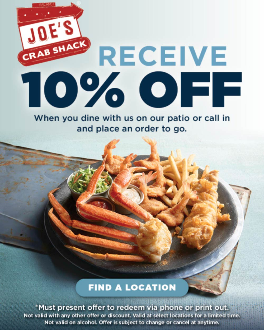 Joes Crab Shack coupons & promo code for [January 2021]