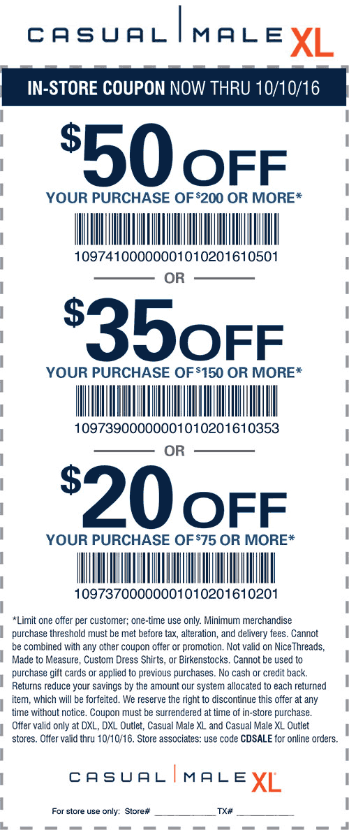 cd9b4347bd6 Casual Male XL Coupon May 2019  20 off  75   more at Casual Male XL