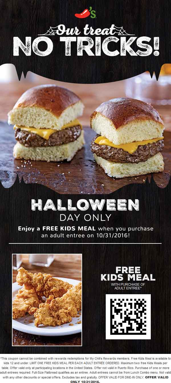 Chilis coupons & promo code for [October 2021]