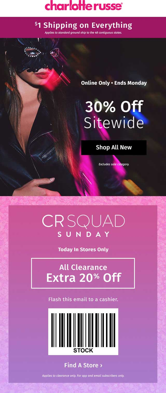 Unpopular or Expired Charlotte Russe Promo Codes