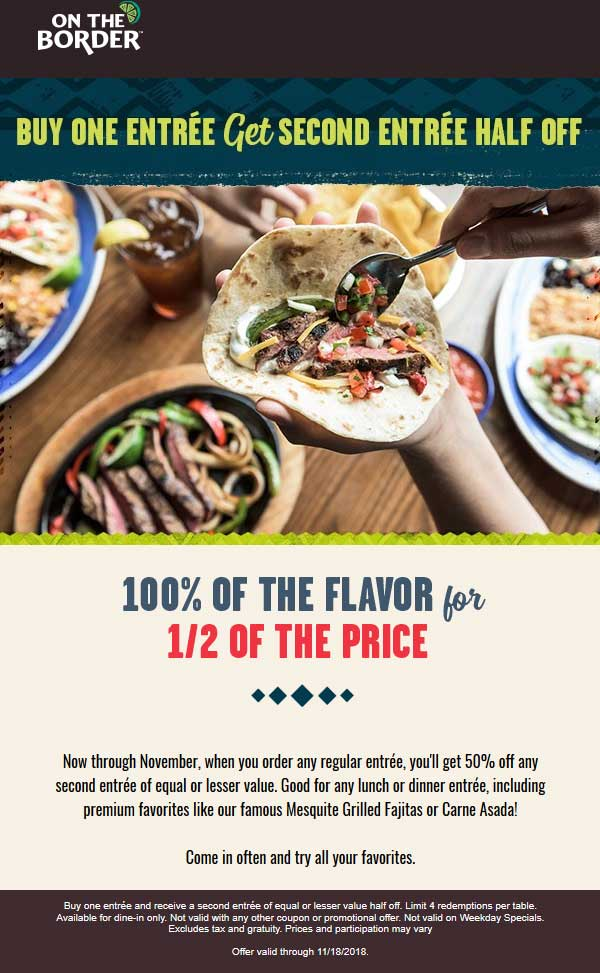 On The Border coupons & promo code for [February 2020]
