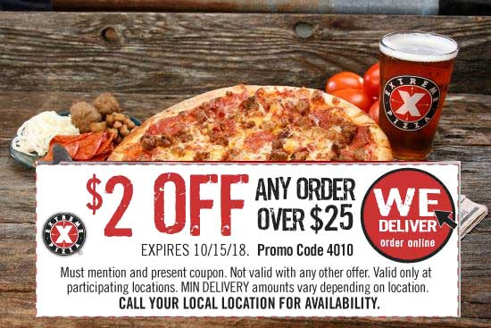 Extreme Pizza coupons & promo code for [February 2020]