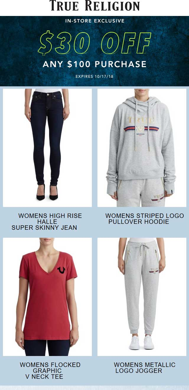 True Religion coupons & promo code for [February 2020]