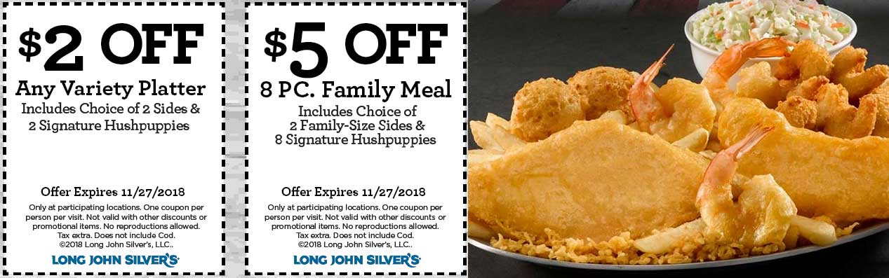 Long John Silvers coupons & promo code for [May 2020]