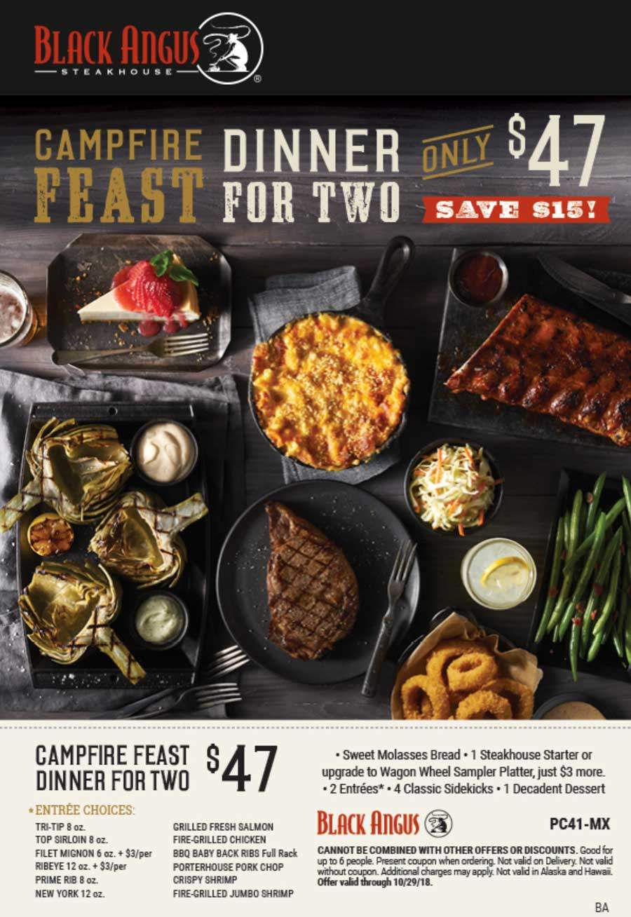 Black Angus coupons & promo code for [September 2020]
