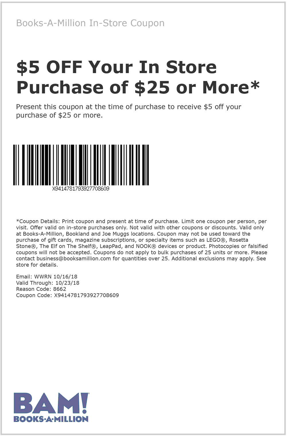 Books-A-Million coupons & promo code for [August 2020]