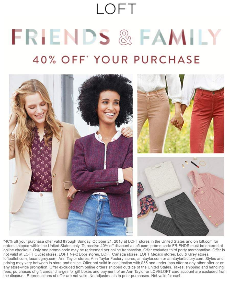 LOFT coupons & promo code for [August 2020]