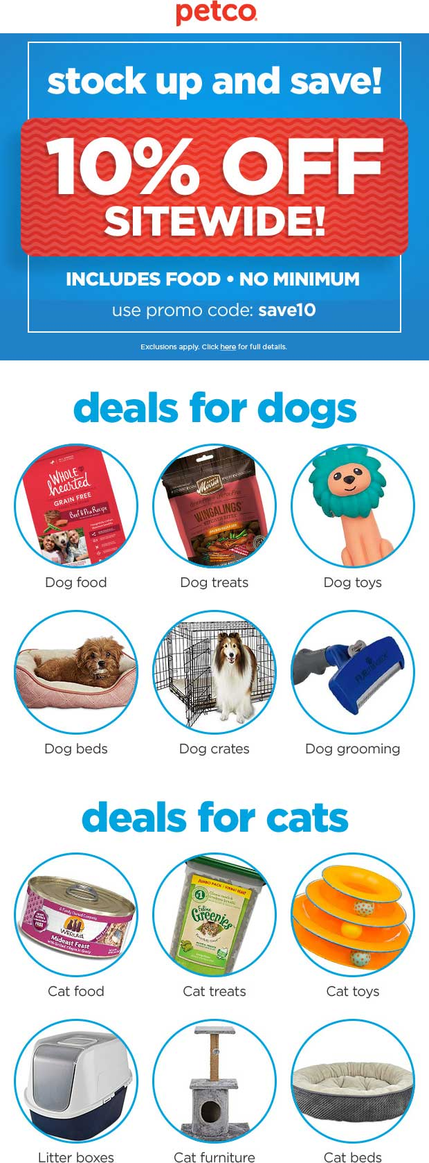 Petco Coupon February 2020 10% off everything online at Petco via promo code save10