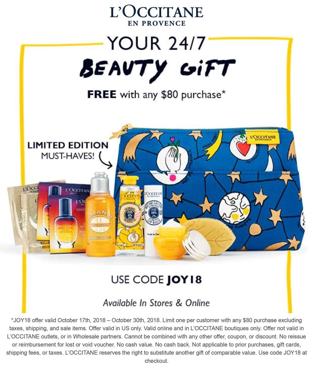 LOccitane coupons & promo code for [September 2020]