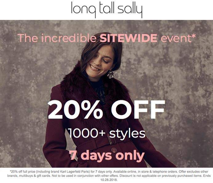 Long Tall Sally coupons & promo code for [January 2021]