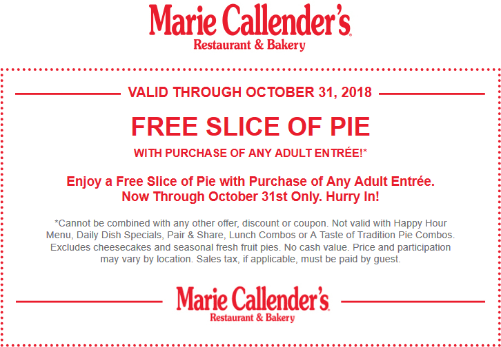 Marie Callenders coupons & promo code for [August 2020]