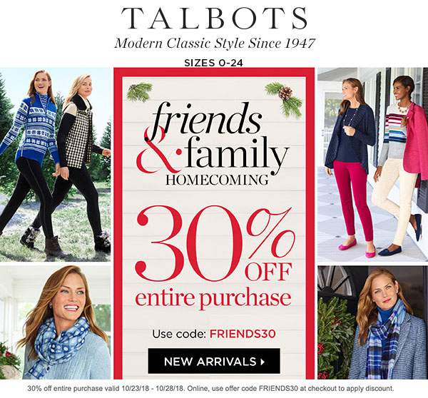 Talbots coupons & promo code for [January 2021]
