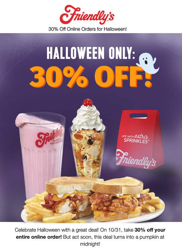 Friendlys coupons & promo code for [August 2020]