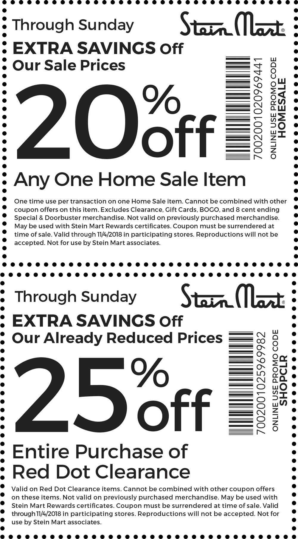 Stein Mart Coupon August 2020 25% off clearance & more at Stein Mart, or online via promo code SHOPCLR