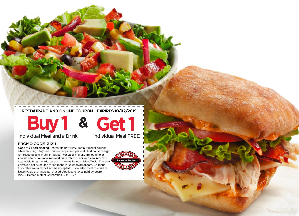Boston Market coupons & promo code for [April 2021]