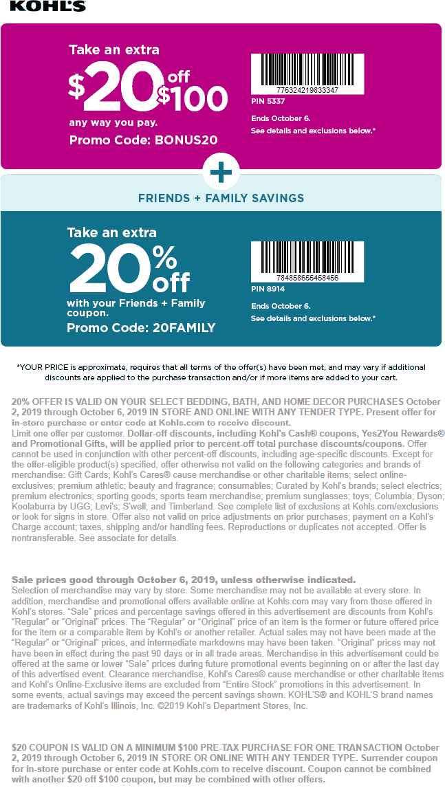 Kohls coupons & promo code for [May 2021]