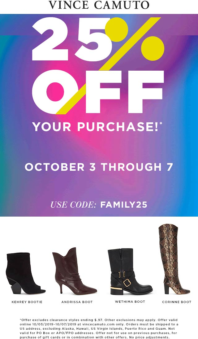 Vince Camuto coupons & promo code for [October 2021]