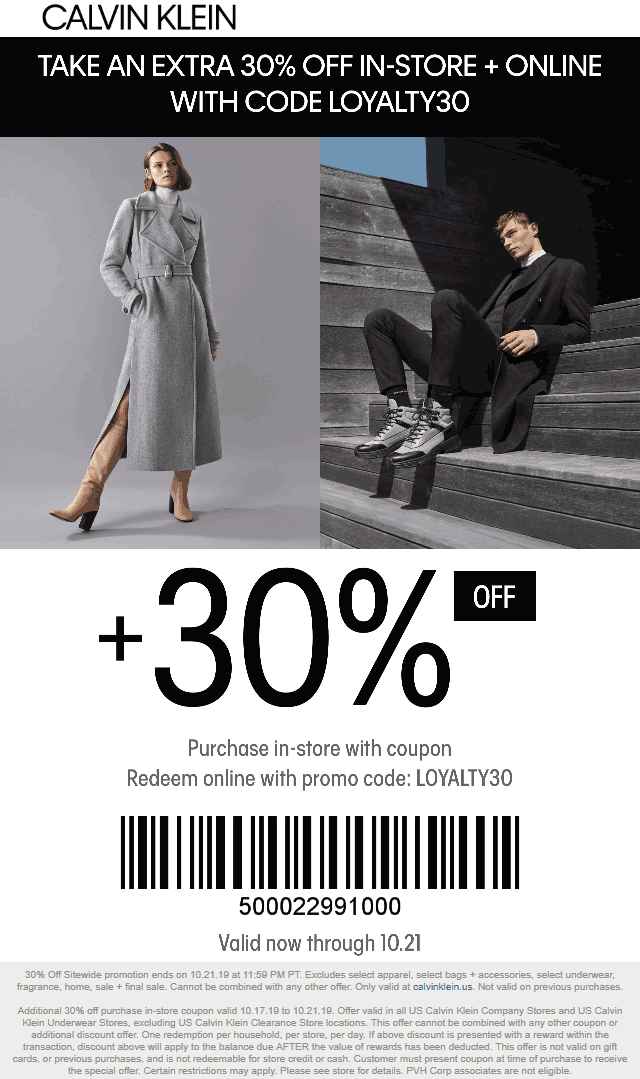 Calvin Klein coupons & promo code for [July 2020]
