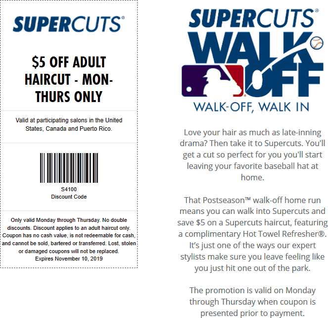 Supercuts coupons & promo code for [September 2020]