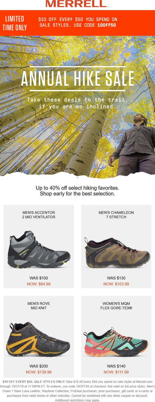 Merrell coupons & promo code for [January 2021]