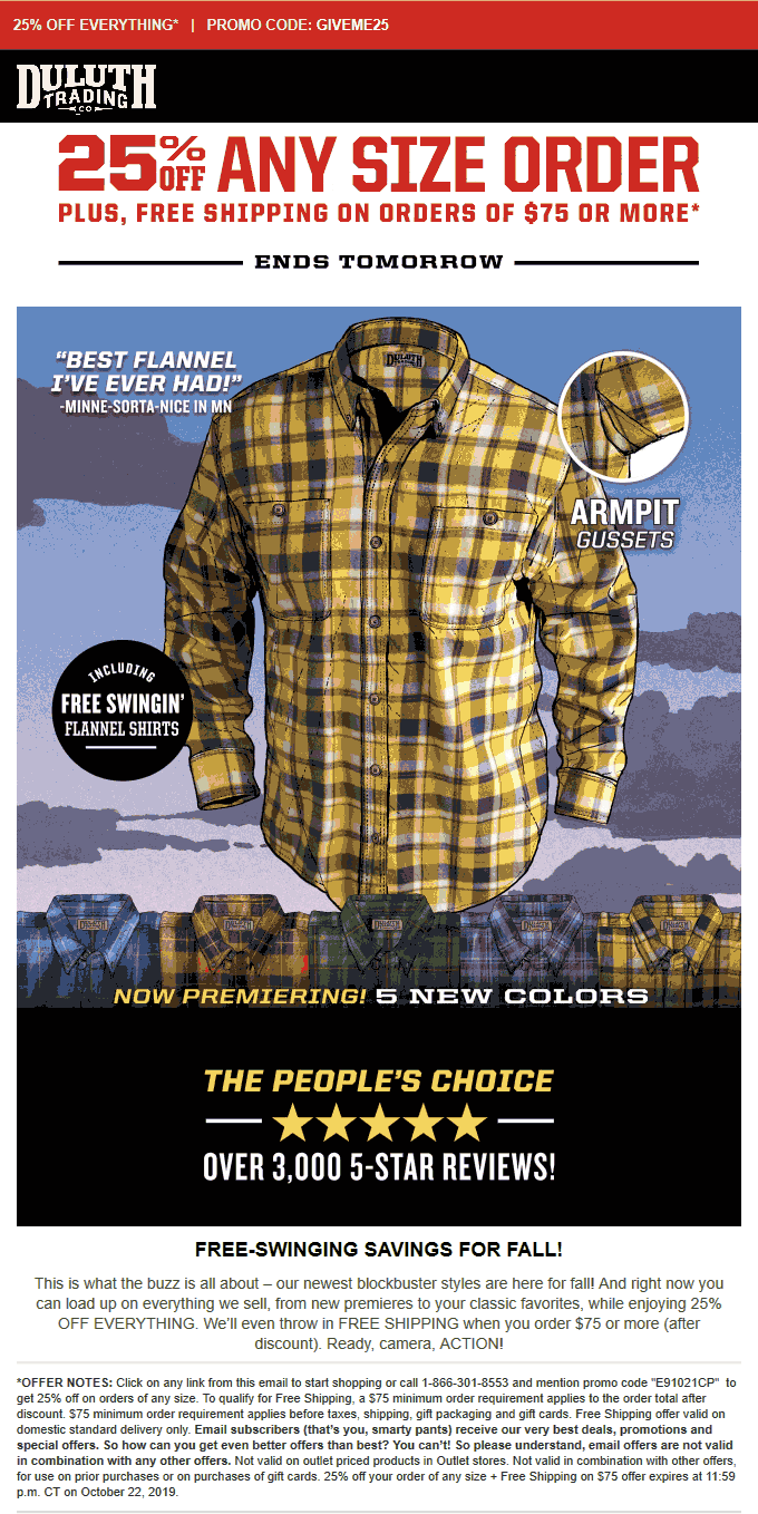 Duluth Trading Co coupons & promo code for [October 2020]