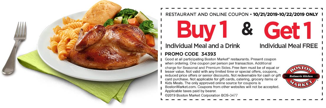 Boston Market coupons & promo code for [February 2021]
