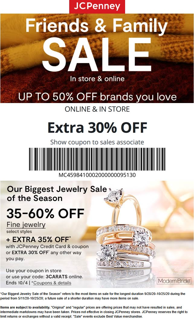 Extra 30% off at JCPenney, or online via promo code FRIENDS4 #jcpenney