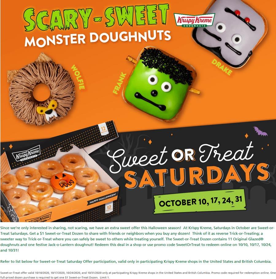 Krispy Kreme coupons & promo code for [December 2020]
