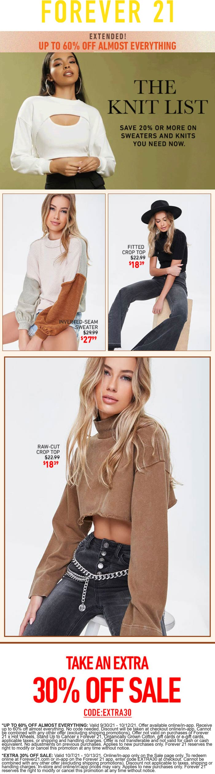 Forever 21 coupons & promo code for [October 2021]