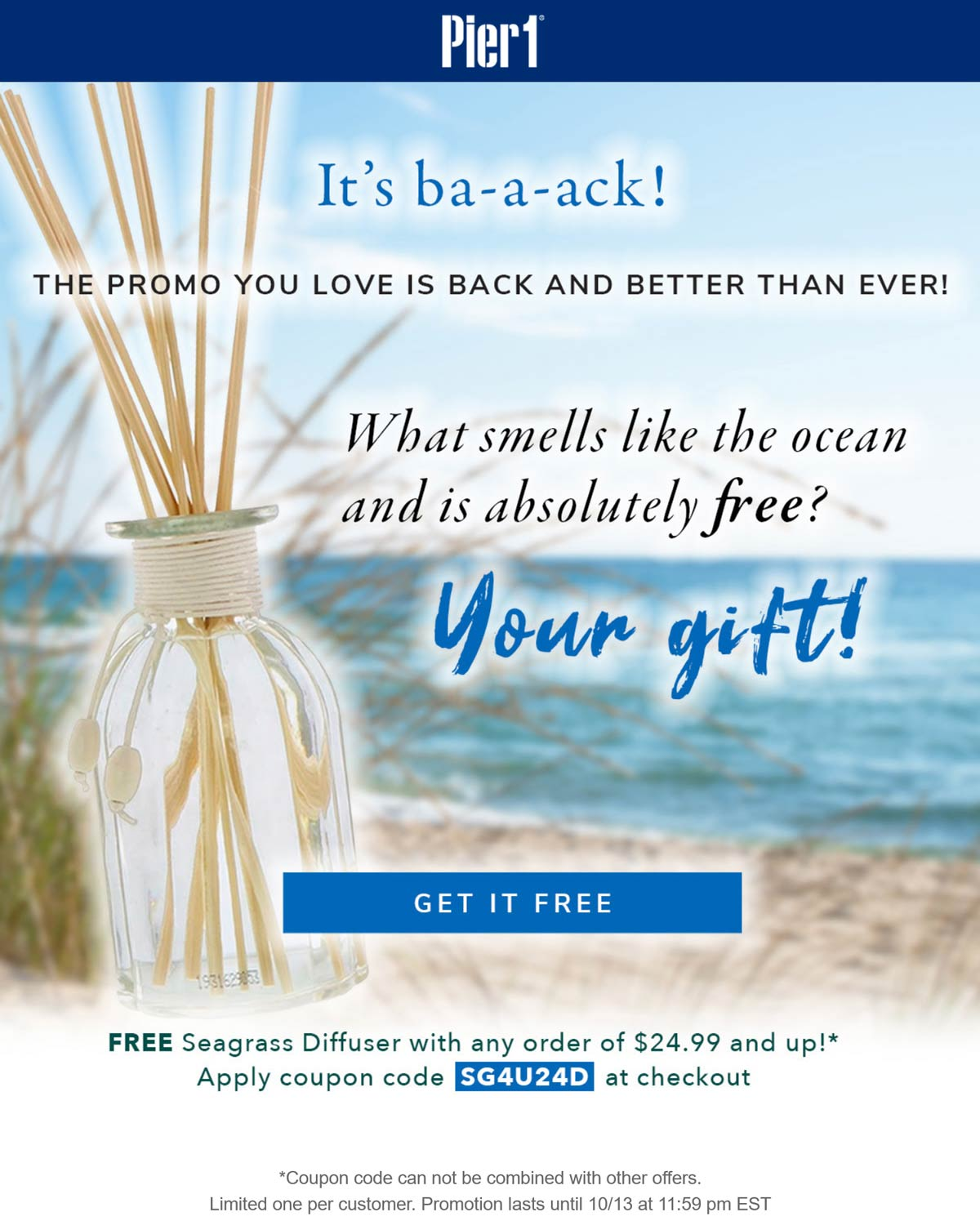 Pier 1 coupons & promo code for [October 2021]