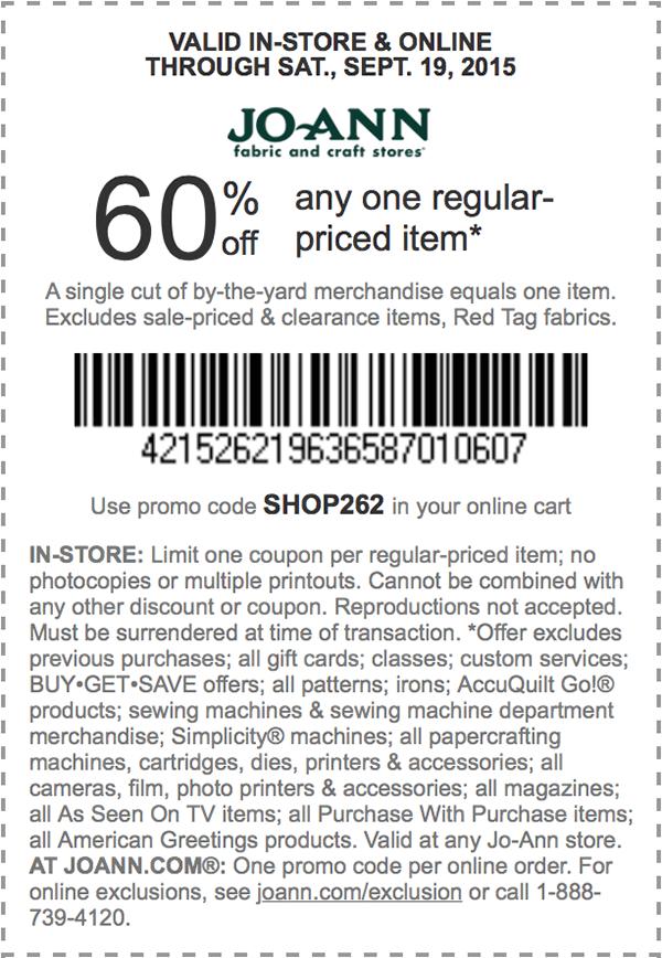 fabric.com coupon code sept 2019