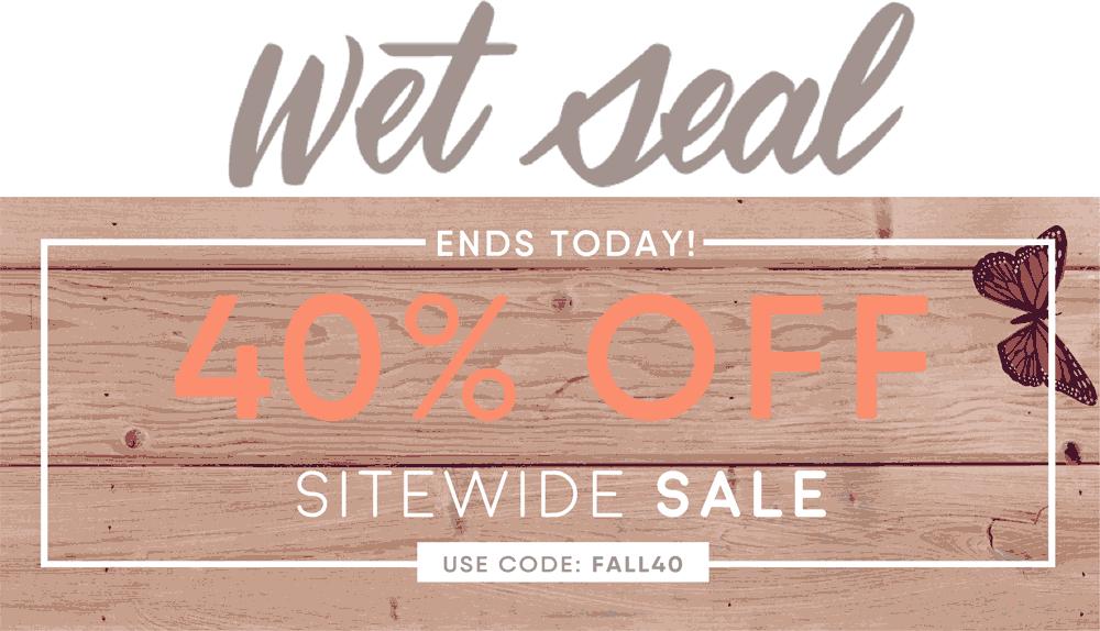 Wet seal coupon code
