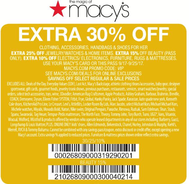 macys 30 off coupon code