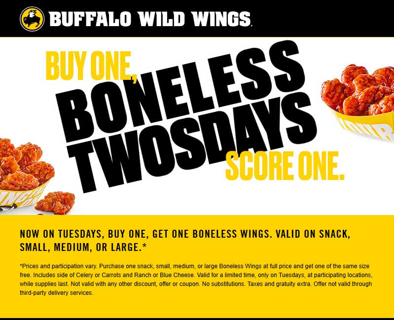 buffalo wild wings catering coupons