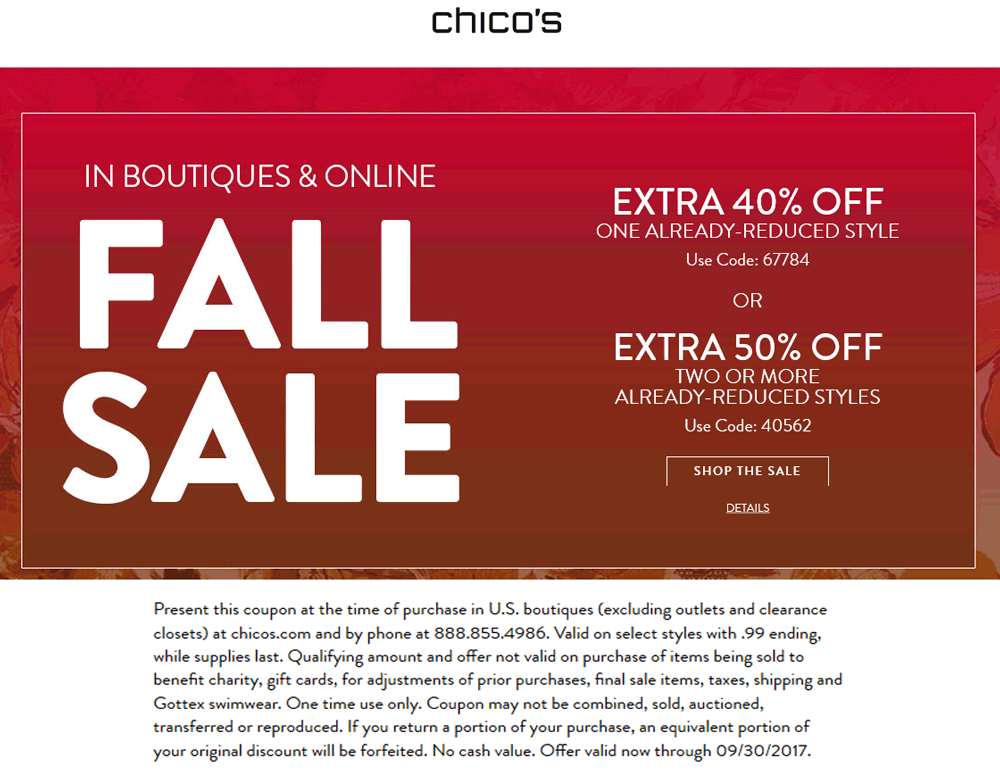 chicos online coupons
