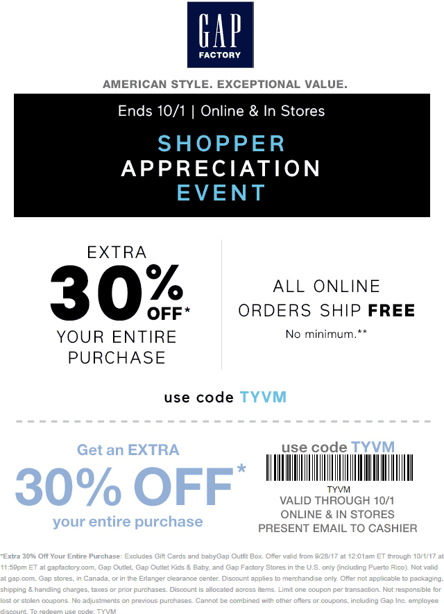 gap online coupon code august 2019