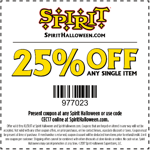 Spirit Halloween Coupons 2020 Spirit Halloween September 2020 Coupons and Promo Codes 🛒