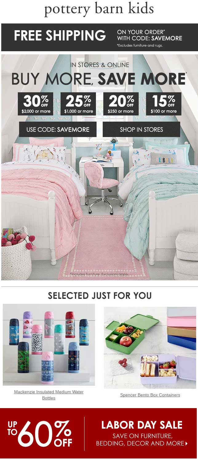 Pottery Barn Kids coupons & promo code for [July 2020]