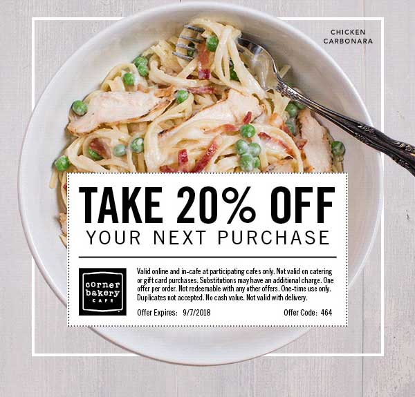 Corner Bakery Cafe coupons & promo code for [June 2020]