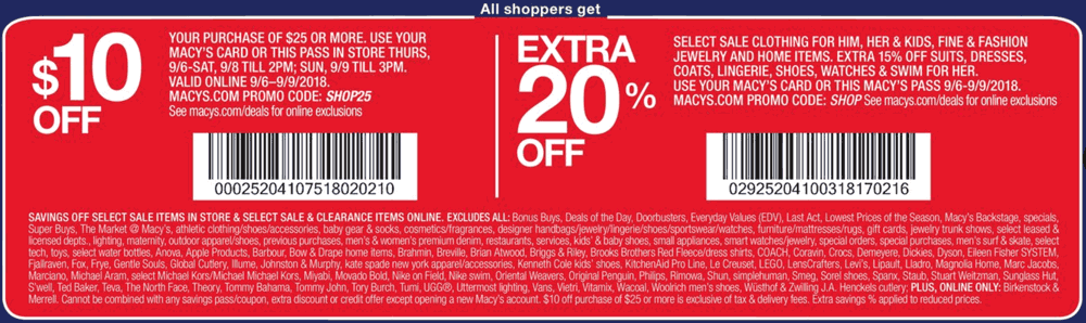 Macys Coupon February 2020 $10 off $25 today at Macys, or online via promo code SHOP25