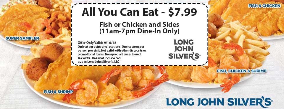 Long John Silvers coupons & promo code for [August 2020]