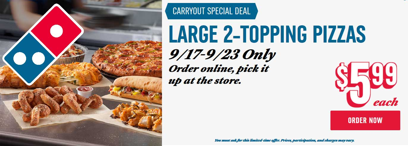 Dominos coupons & promo code for [February 2020]