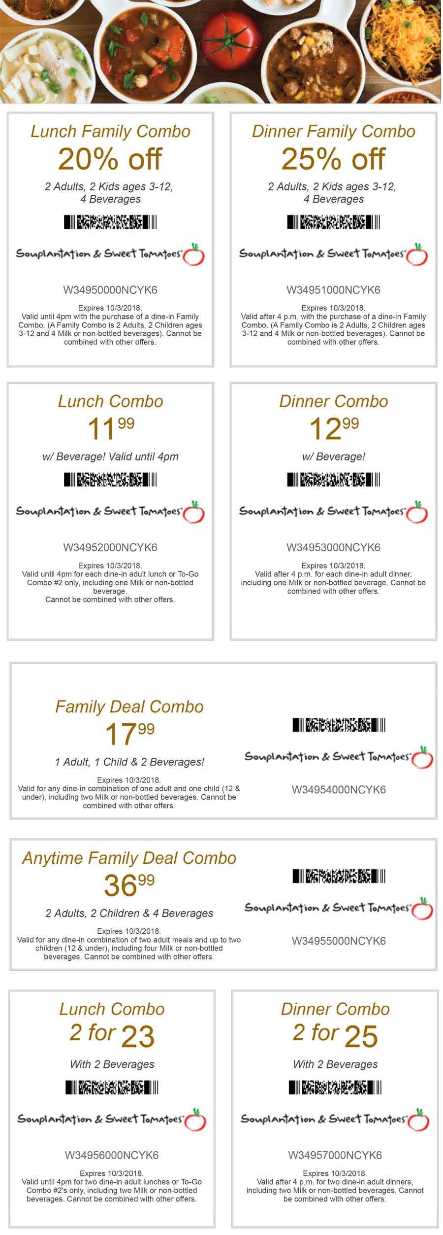 Sweet Tomatoes Coupon May 2020 25% off dinner & more at Souplantation & Sweet Tomatoes