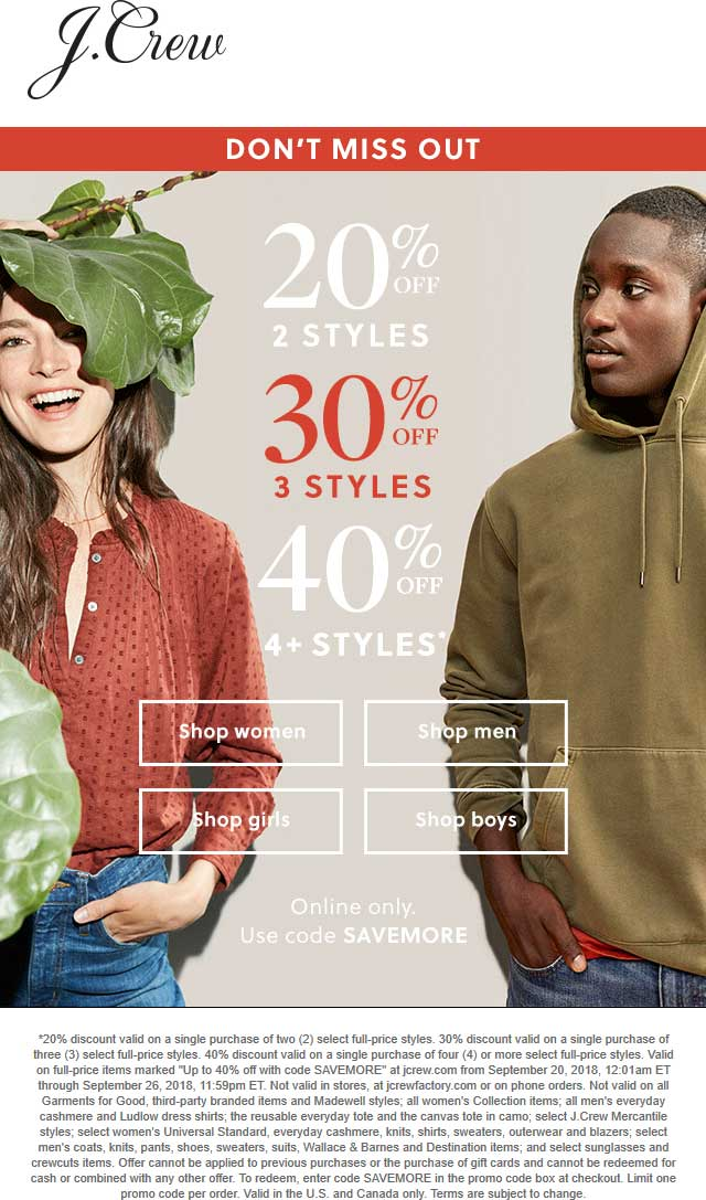 J.Crew coupons & promo code for [April 2020]