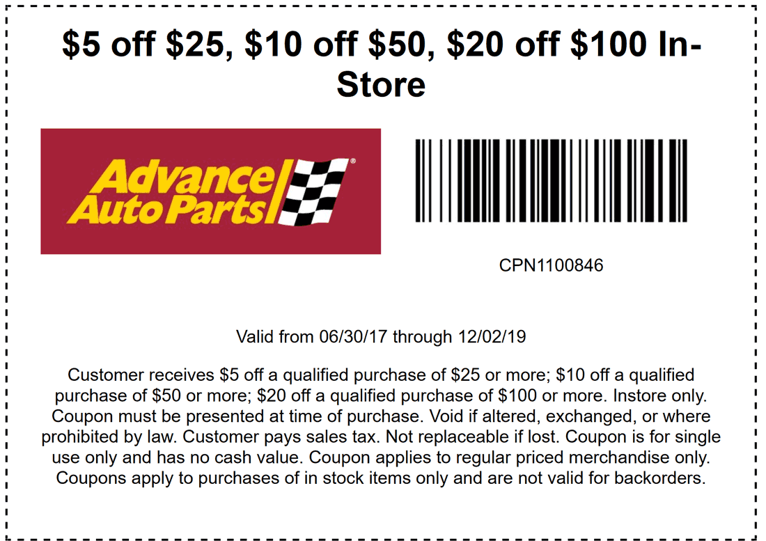 Advance Auto Parts coupons & promo code for [April 2020]